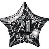 21st 20' Star Foil Balloon (each)