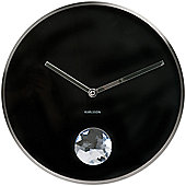 Karlsson Swinging Diamond Wall Clock in Black