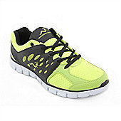 Woodworm Sports Ezr Mens Running Shoes / Trainers - Yellow