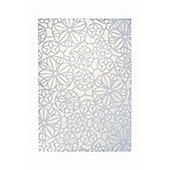 Esprit Society White Contemporary Rectangular Rug