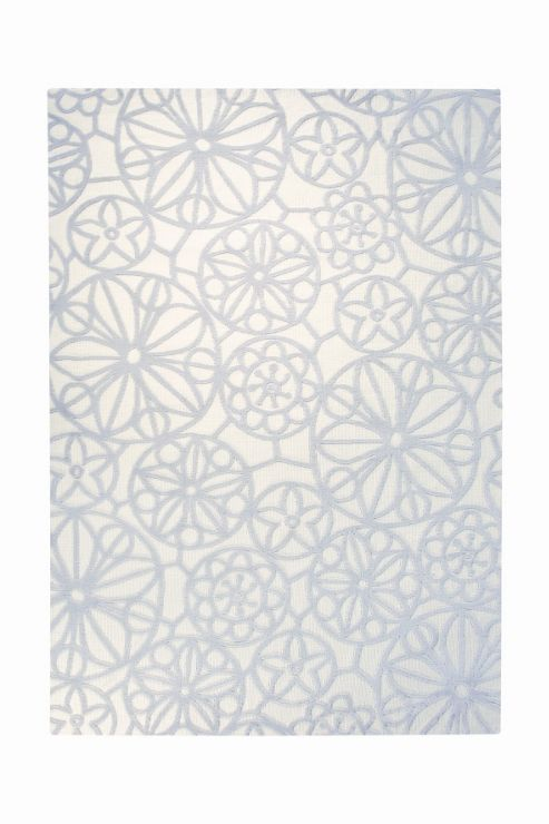 Esprit Society White Contemporary Rectangular Rug