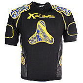 X Blades Wild Thing Junior Rugby Body Protection Yellow/Blue - Yellow