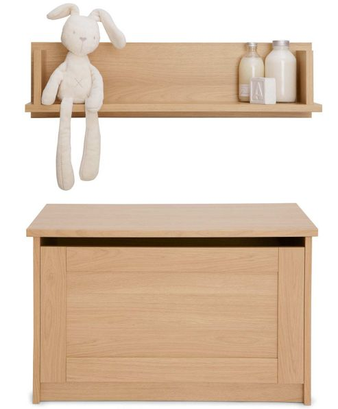 Mamas & Papas - Rialto Storage & Shelf - Natural Oak Effect