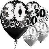 30th 12' Latex Balloons (6pk)