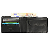 Tony Perotti Italian leather note case wallet with coin section. Black