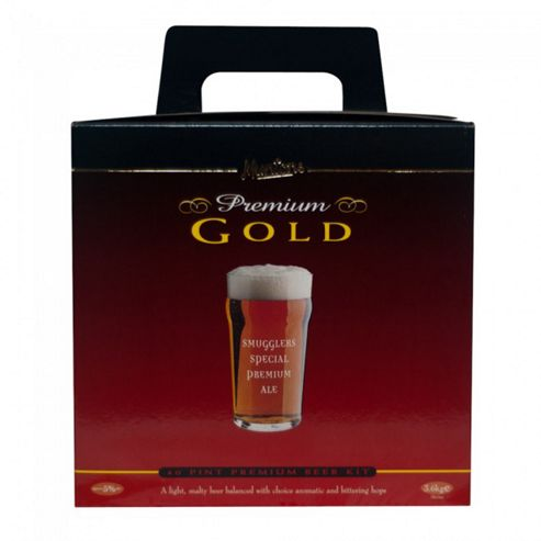 Muntons Premium Gold 40 pint home brew beer kit - Smugglers Ale