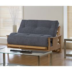 Kyoto Atlanta Futon with Deluxe Mattress - Louisa Natural