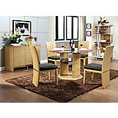 Jual JF603 Oak Dining Table 4 Chairs and Sideboard