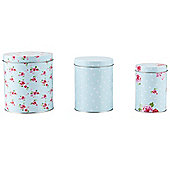 Tesco English Rose 3 piece Storage Set