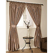 Como Ready Made Lined Curtains - Brown