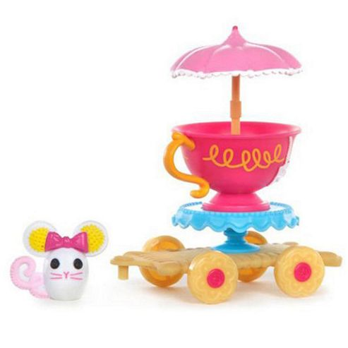MGA Entertainment Mini Lalaloopsy Silly Pet Parade Tea Time Wagon