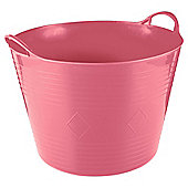 Tesco 42L Flexi Tub Flamingo Pink