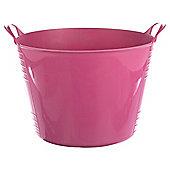 Tesco 42L Flexi Tub Flamingo Pink