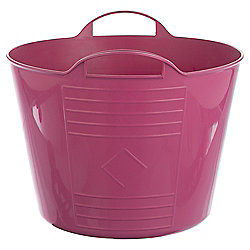 42L Plastic Flexi Tub with Handles - Pink