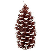 Pine Cone Candle Large, Brown