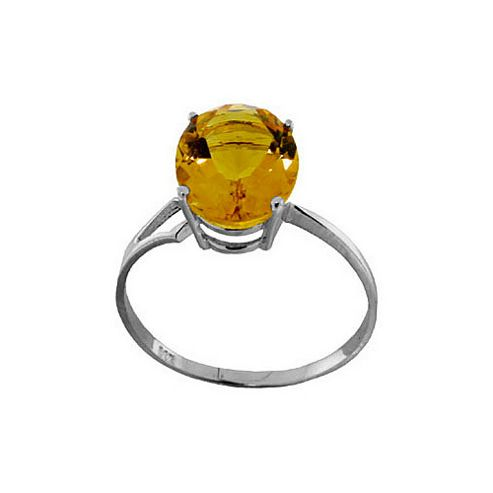 QP Jewellers 2.20ct Citrine Ring in Sterling Silver - Size A