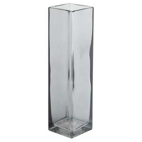 buy tesco rectangle vase smoke new from our vases bowls. Black Bedroom Furniture Sets. Home Design Ideas