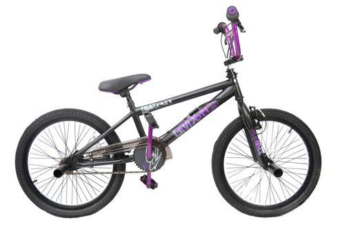 Matte Black And Purple Bmx Bmx Matt Black/purple