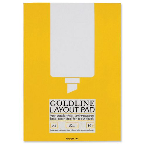 Goldline Layout Pad Bank Paper 50gsm 80 Pages A4 Ref GPL1A4Z