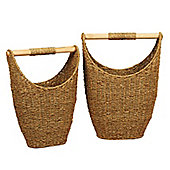 Wicker Valley Seagrass Shaped Storage Basket (Set of 2)