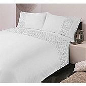 Hotel Collection Diamond Pleats - White