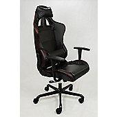 GT4 Racer Office Chair Black + Red