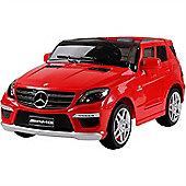 Licensed Mercedes ML63 AMG 12v Kids Electric Jeep - Red