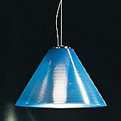 Leucos Solaris Pendant in Chrome - Single Mount - 227cm - Light Blue