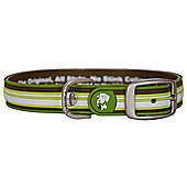 Dublin Dog All Style Classic Stripe Sherpa No Stink Dog Collar - Large (43-54cm W)