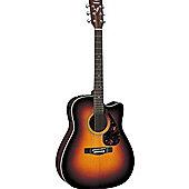 Yamaha FX370C 4/4 Electro Acoustic Guitar - TBS