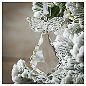 Weiste Glass Heart Angel Christmas Tree Decoration
