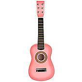 "Music Zone 23"" Wooden Acoustic Guitar - Pink"