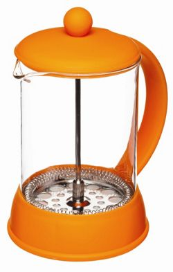 KitchenCraft Colourworks 800ml Cup Cafetiere in Orange.