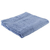 Tesco Hygro 100% Cotton Bath Towel, Soft Blue