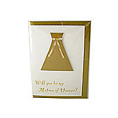 Little Gem Gold Will You Be My Matron of Honour Card