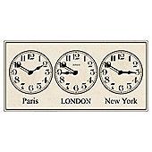 Jones & Co Grande Terminal Timezone Wall Clock 22x45cm