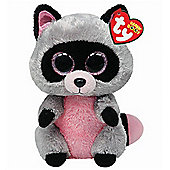"TY Beanie Boo Buddy 9"" Plush - Rocco the Racoon"