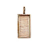 Bezel Handmade Pendant Rectangle Copper