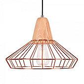 Cult Living Scandi Cage Lamp - Copper