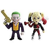 "Metals Die Cast Suicide Squad: 4"" Joker & Harley Quinn"