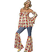 Hippy 1970's Vintage - Adult Costume Size: 8-10