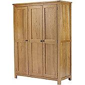 Canterbury Solid Oak and Pine 3 Door Wardrobe