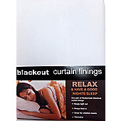 Blackout Ready Made Lining Pair - White