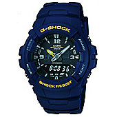 Casio G-Shock Mens Chronograph Dual Time Alarm Watch - G-100-2BVMUR