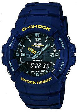 Casio G-Shock Mens Chronograph Dual Time Alarm Watch - G-100-2BVMUR