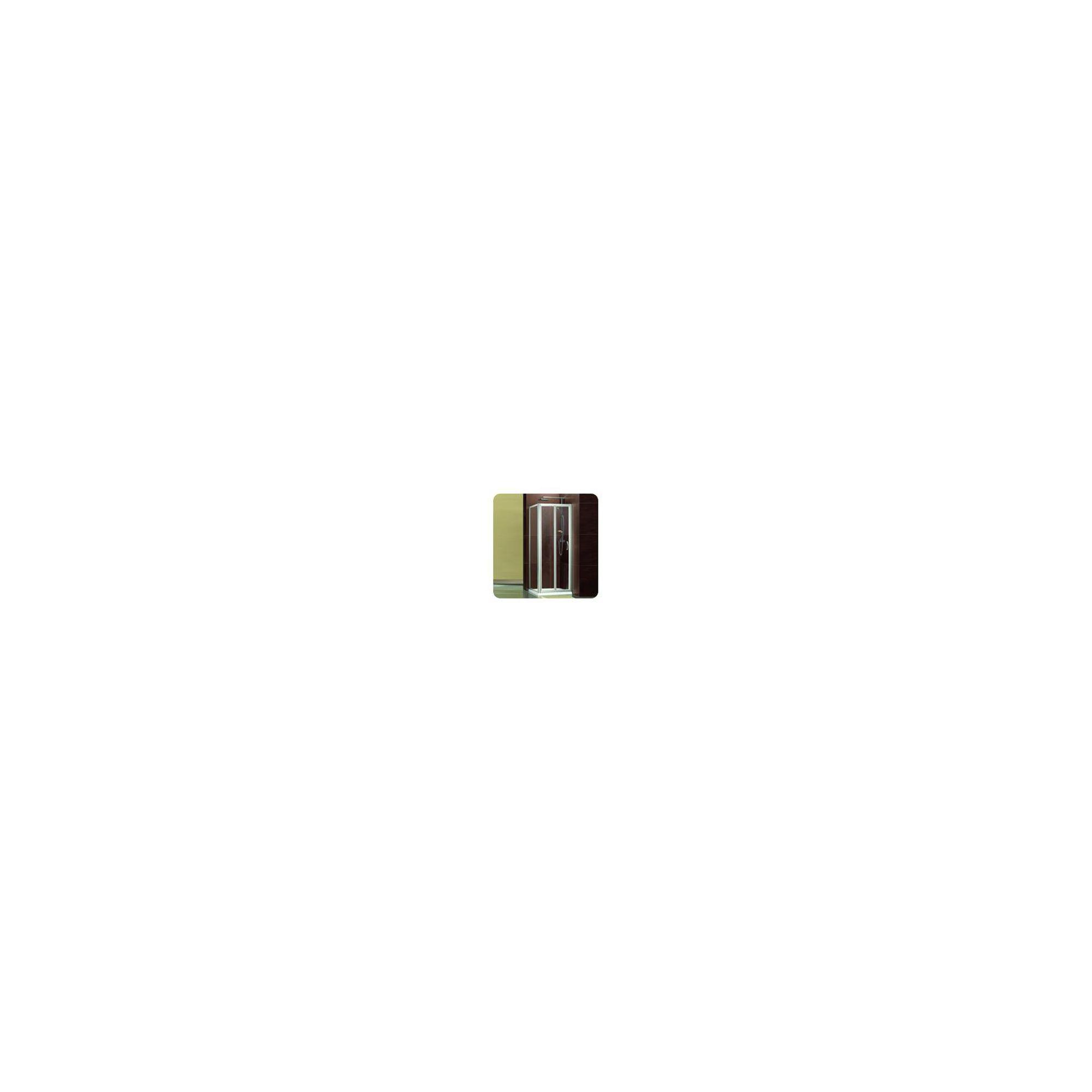 Balterley Framed Bi-Fold Shower Enclosure, 800mm x 800mm, Standard Tray, 6mm Glass at Tesco Direct