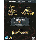 Tim Burton 3D Collection (6 Discs) - The Nightmare Before Christmas, Alice In Wonderland, Frankenweenie Blu-Ray