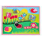 Fiesta Crafts Chunky Lift-Out Garden Puzzle