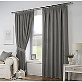 Curtina Leighton Grey Lined Curtains 90x72 Inches