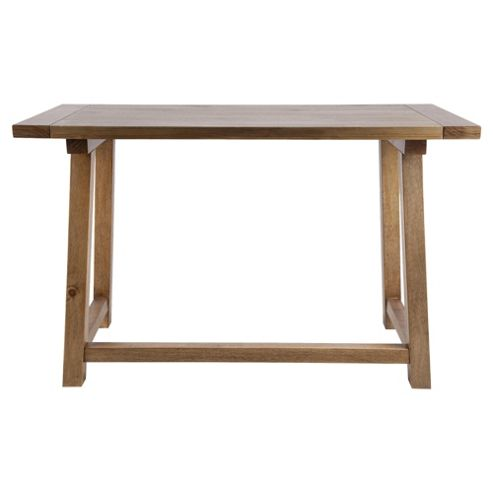 Buy portobello trestle desk rustic pine from our office desks tables range tesco - Tesco office desk ...